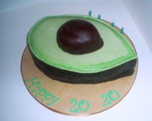 Enjoyable Cake Tales 5 A Day Cake Avocado Cake Cake Shapes Funny Birthday Cards Online Hendilapandamsfinfo
