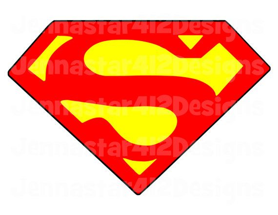 It's just an image of Superhero Logo Printable throughout superman