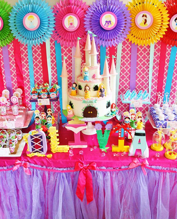 Colorful Disney Princess Party Ideas Princess Theme Party