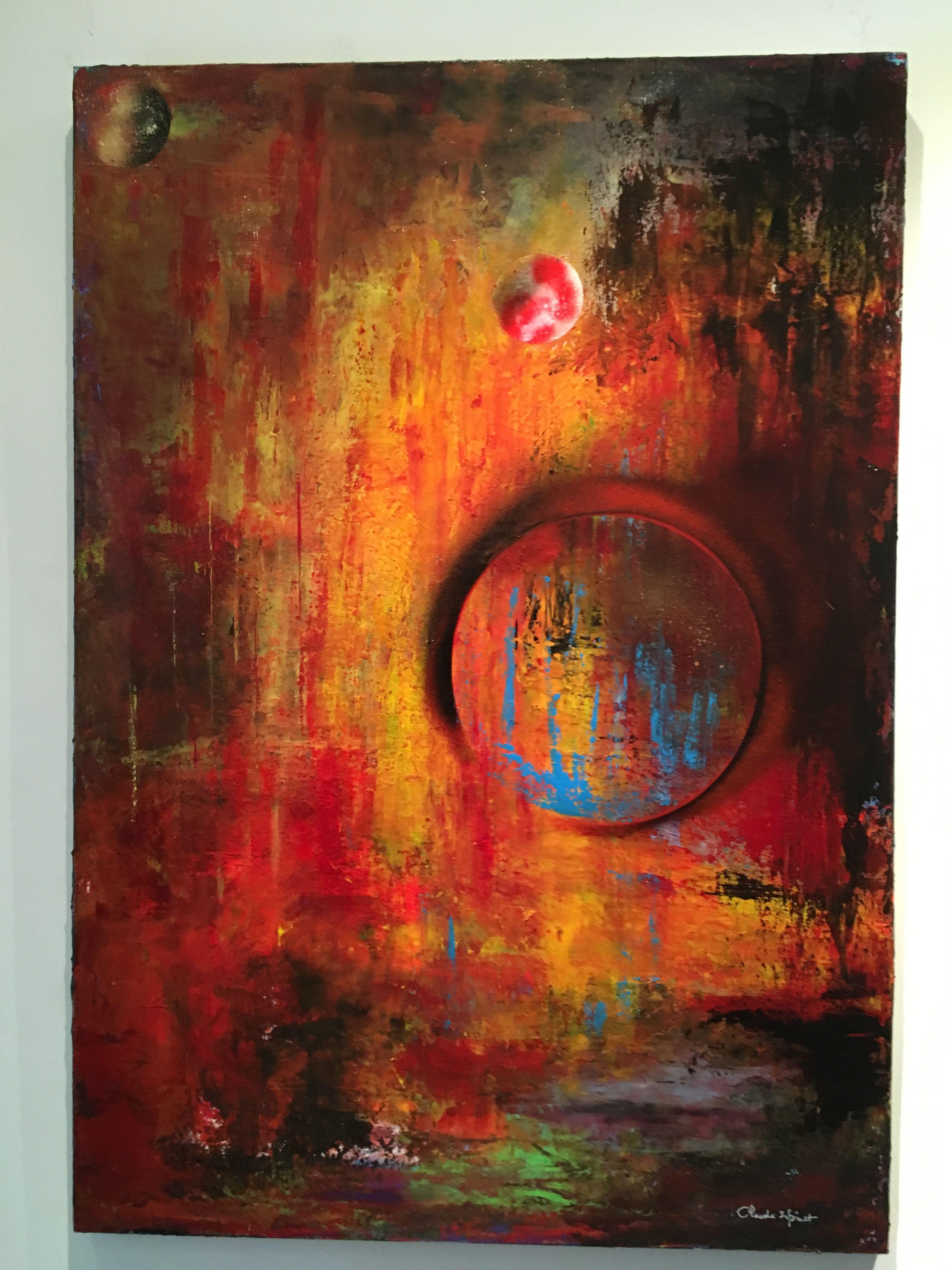 "toile 70 x 100 peinture acrylique intitulée ""COSMOS"" | Peinture abstraite,  Peinture, Peinture acrylique"