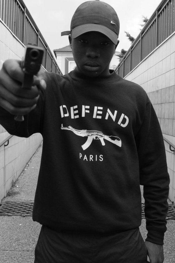 defend paris paris shirt hoodie guns ghetto ak 47 defend