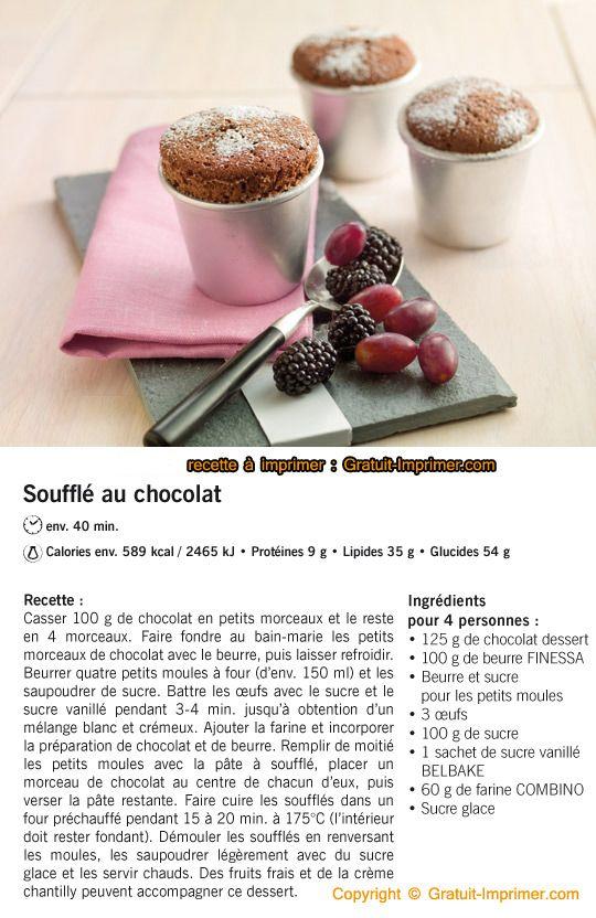Recette de cuisine soufflet de choco a imprimer gratuitement gratuit imprimer recette de - Recettes de cuisine gratuite ...