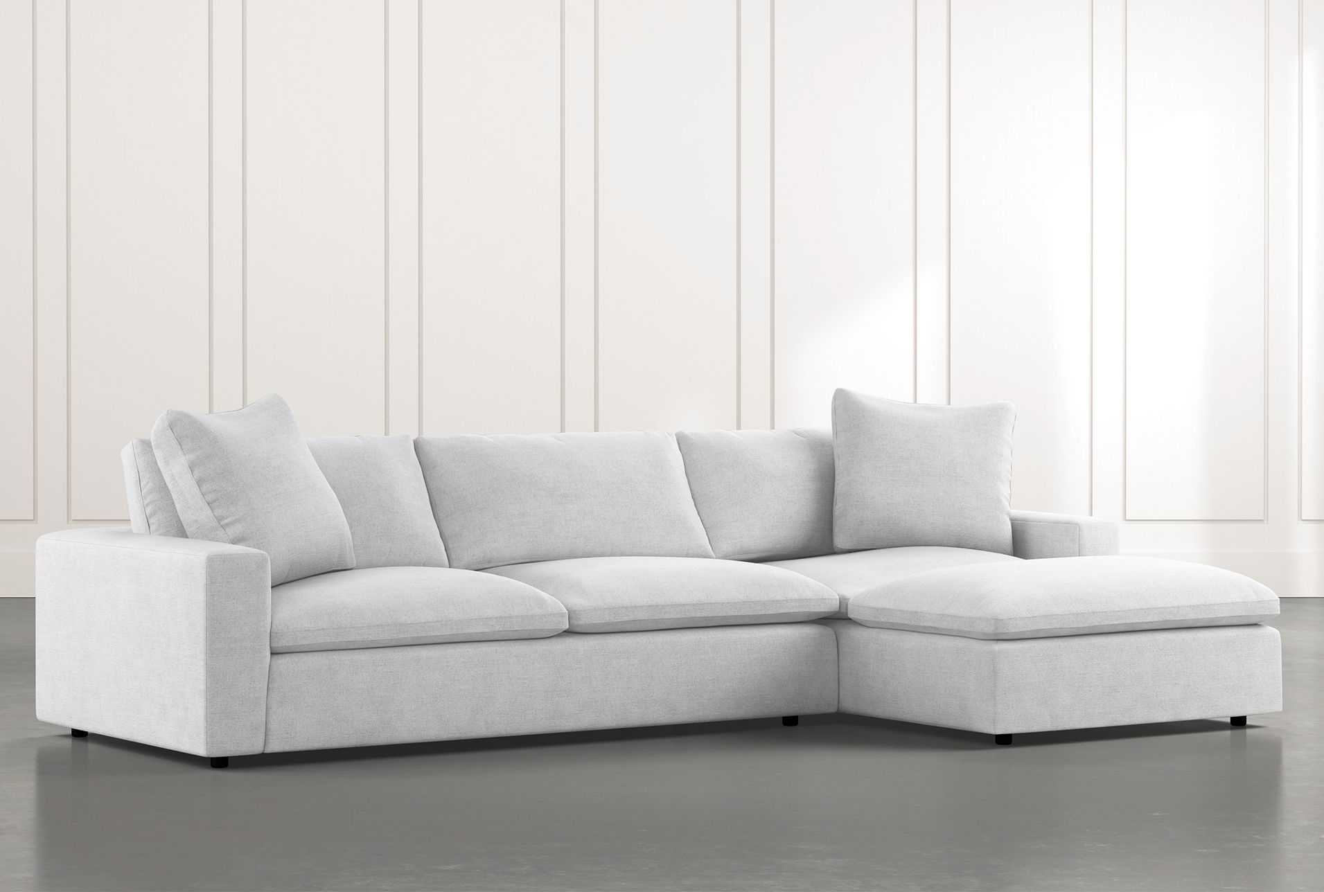 Utopia 2 Piece Sectional With Right Arm Facing Chaise Sectional