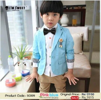 52f7d0add Shop Online Cool Blue Summer Coat for Young Boys with Stylish Cuffs