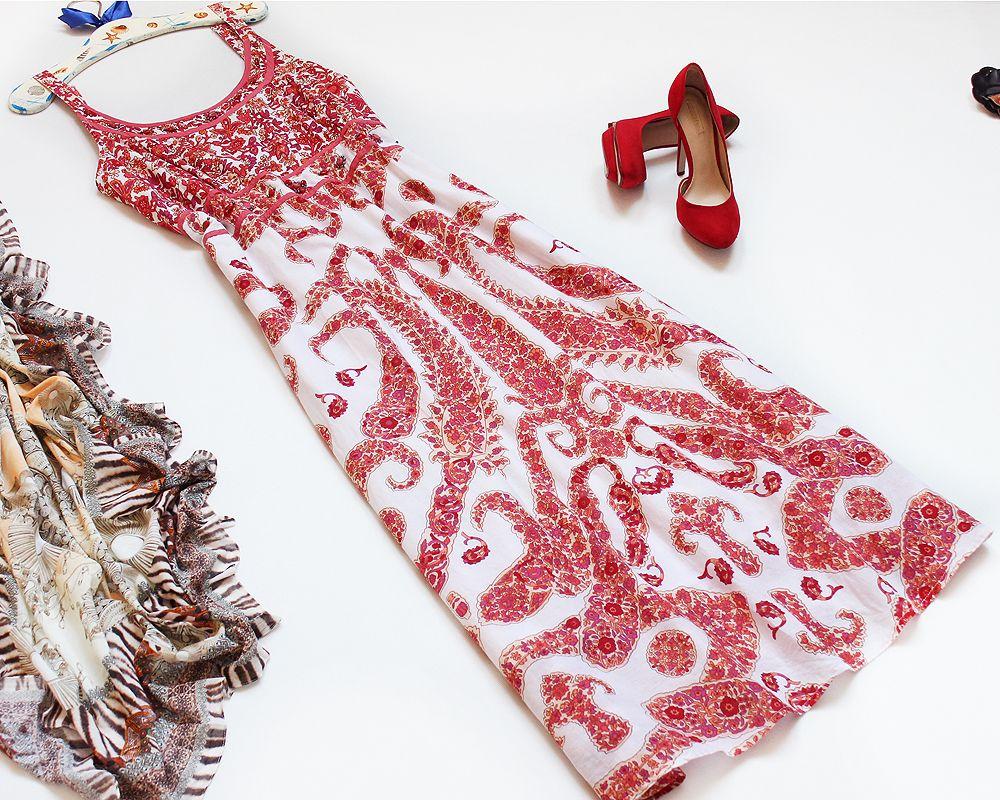Casual Co Indyjska Sukienka Na Lato Bawelna 46 48 7306808973 Oficjalne Archiwum Allegro Fashion Moda Boho Hippie Boho