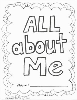 Attractive All About Me Book   Free Printables!