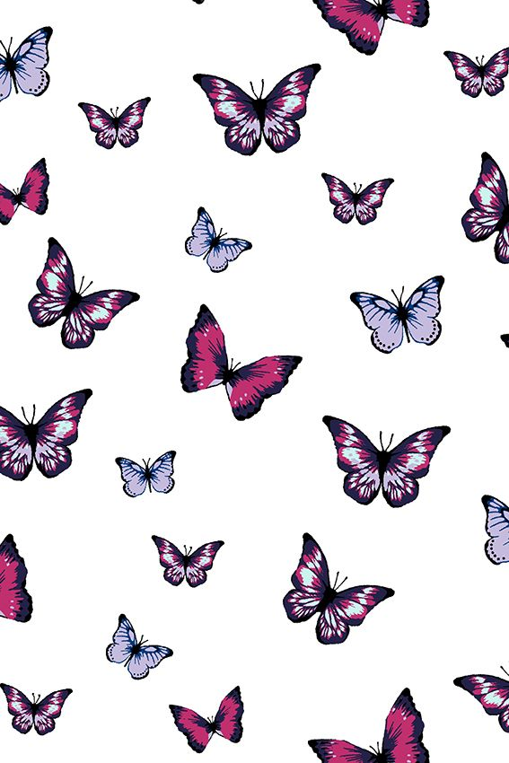 Les Papillons Embrace Magenta Iphone Background Wallpaper