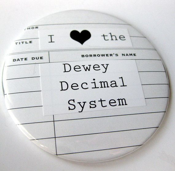 Librarian Pocket Mirror // I Heart the Dewey Decimal System