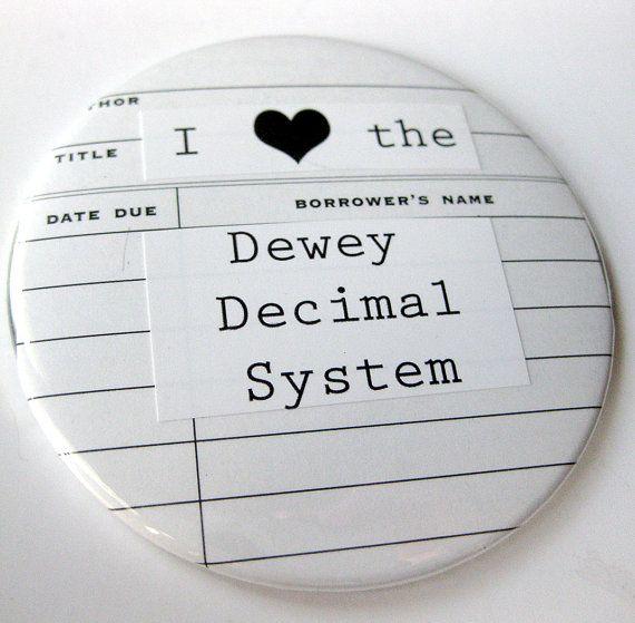 Librarian Pocket Mirror // I Heart the Dewey Decimal System