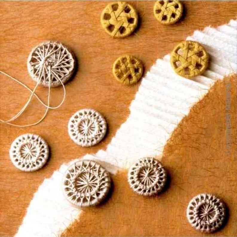 Beaded Dorset Buttons