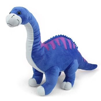 Dinomites Large Blue Stuffed Diplodocus By Wild Republic Stuffed