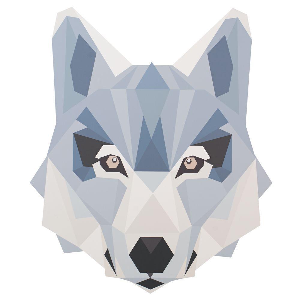 Geo Wild Wall Decal (Wolf)
