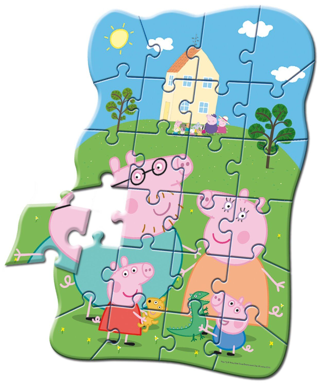 Peppa Pig Puzzle Sagomato 24 Pezzi Amazon Giochi E