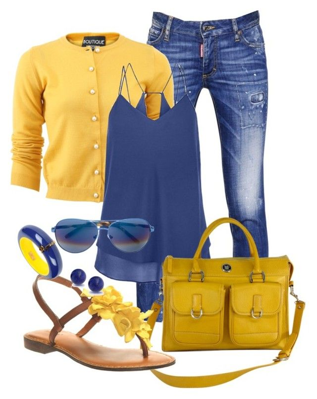 """""""Casual"""" by alice-fortuna on Polyvore featuring Dsquared2, Boutique Moschino, Dooney & Bourke, Nicole, Matthew Williamson and Bling Jewelry"""