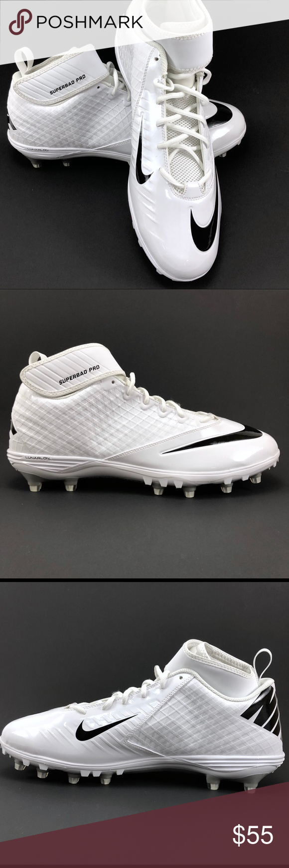 623f17c93417 Nike Mens 17 Lunar Superbad Pro TD Football Cleats Size 17. NEW Nike Lunar  Superbad Pro TD Football Cleats White   Black 511334-101. Check out the  photos!