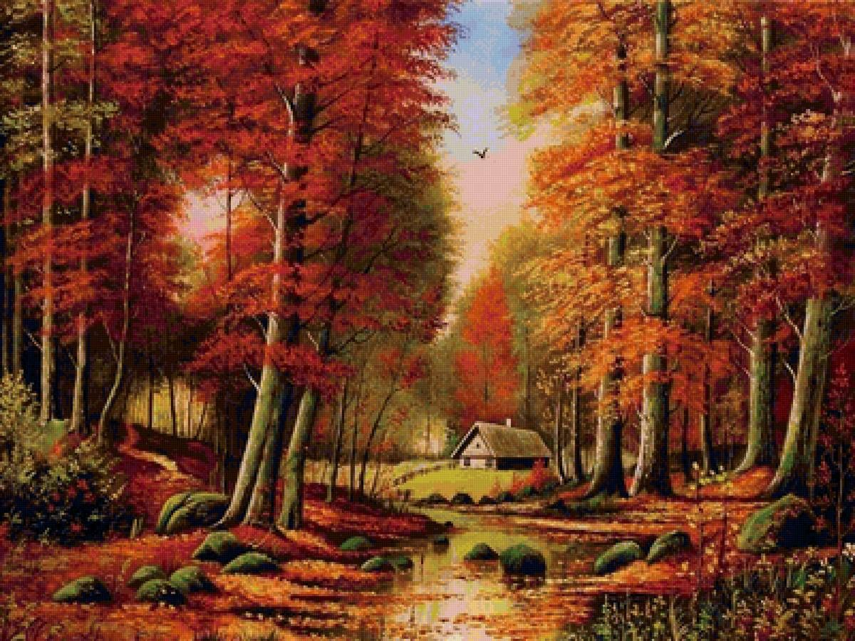 h схему вышивки золотая осень