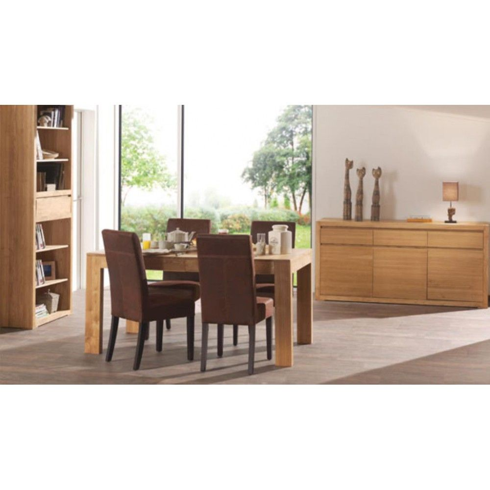 Table Carree Extensible Moderne 140 185cm Frene Cire HALIFAX