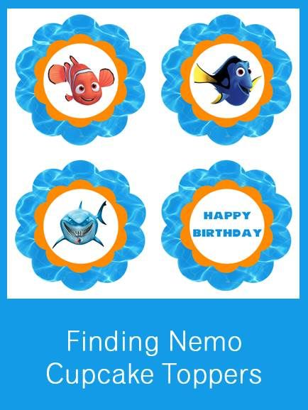 Finding Nemo Cupcake Toppers - FREE PDF Download
