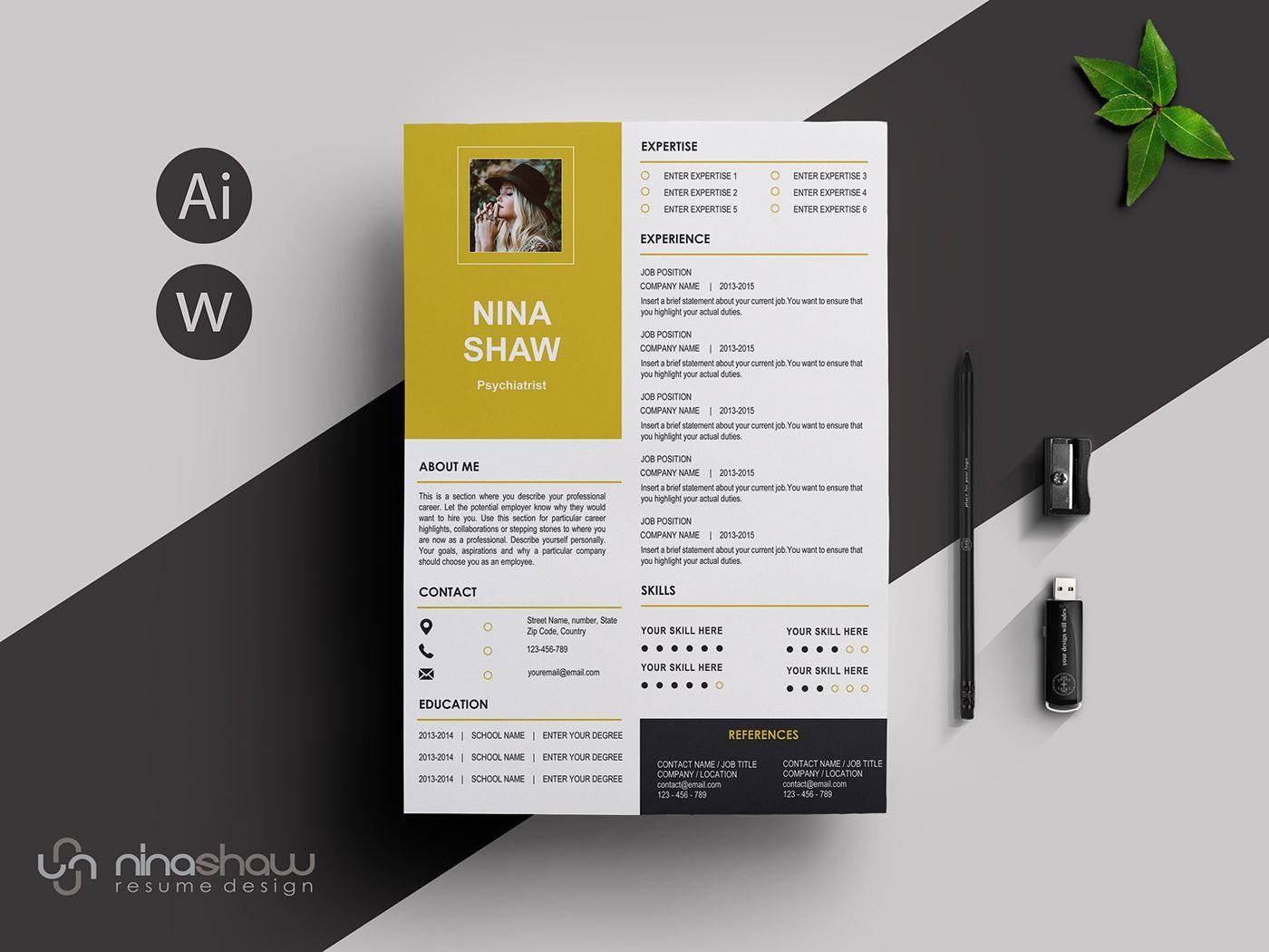 PERSEUS RESUME TEMPLATE on Behance Print Design Templates