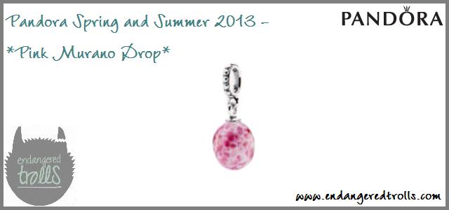 Pandora Spring Summer 2013 - Pink Murano Drop