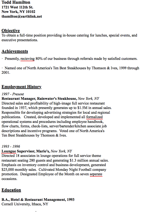 house catering resume http resumesdesign com house catering