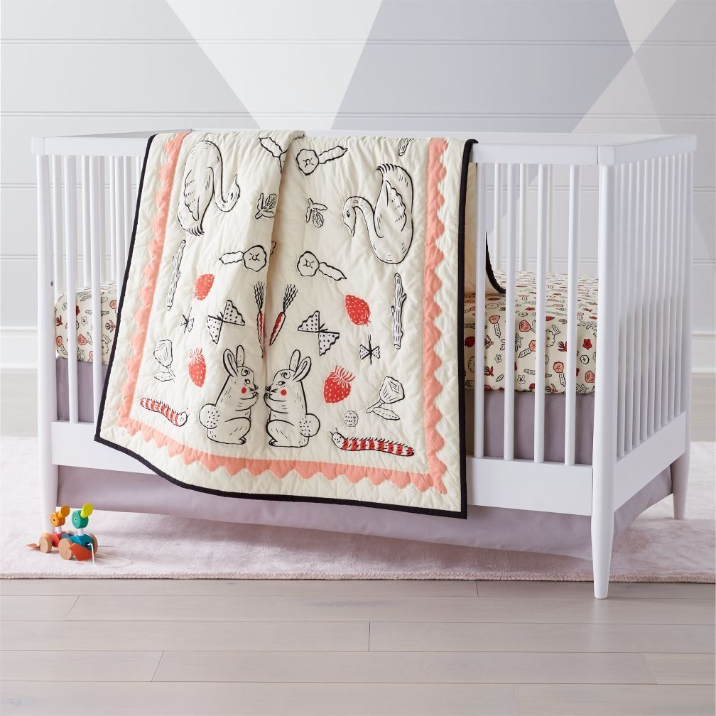 Shop Roxy Marj Furry Friends Crib Bedding.  This charming crib bedding will introduce some new furry friends to your little one.