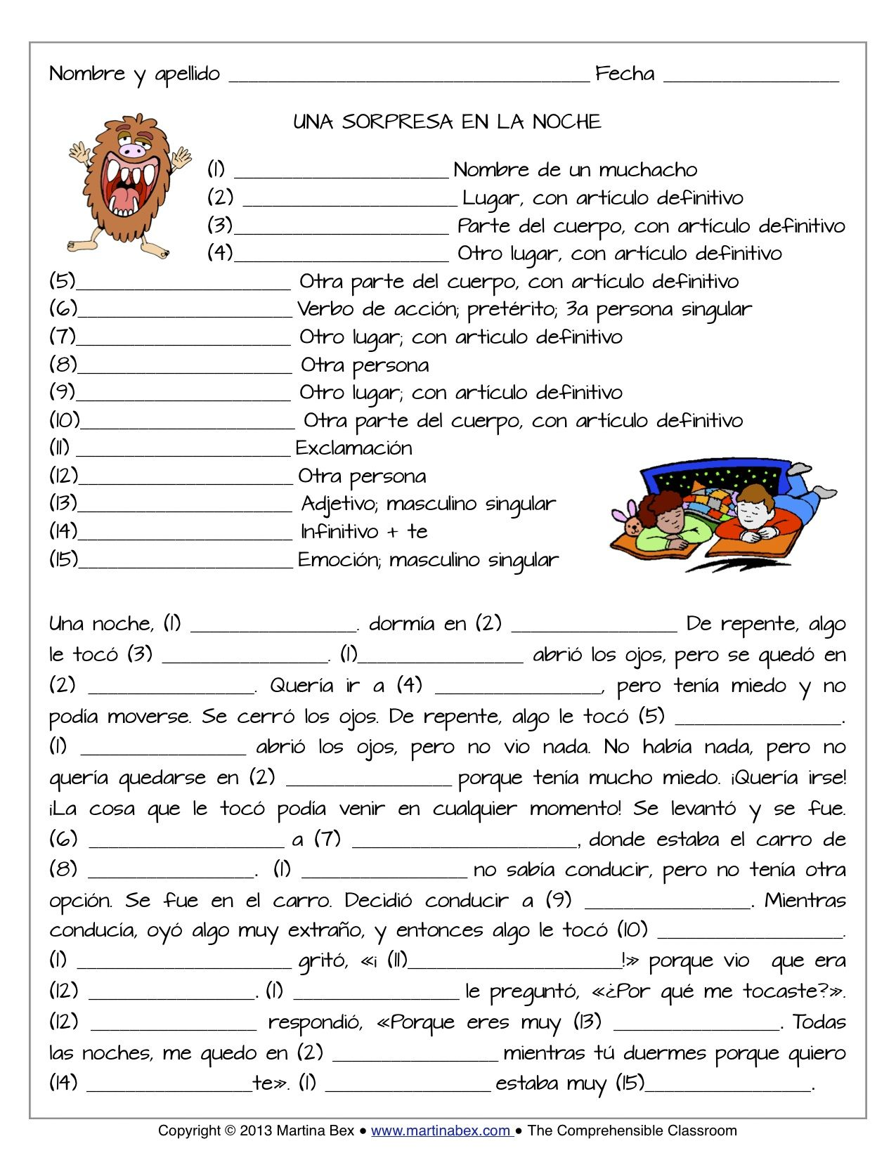 Mad Libs For Comprehensible Input