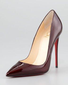 0cfd568f43a6d shopstyle.com: Christian Louboutin So Kate Patent Leather Point-Toe Pump,  Rouge Noir