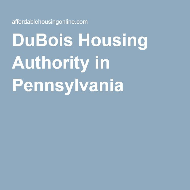 DuBois Housing Authority, DuBois, Pennsylvania