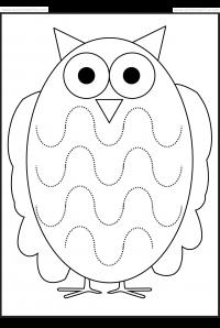 Werkblad motoriek: Cute worksheet to train those curvy