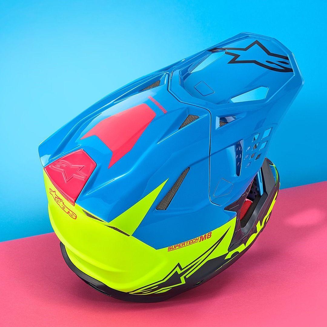 Alpinestars supertech sm8 radium aqua yellow helmet in