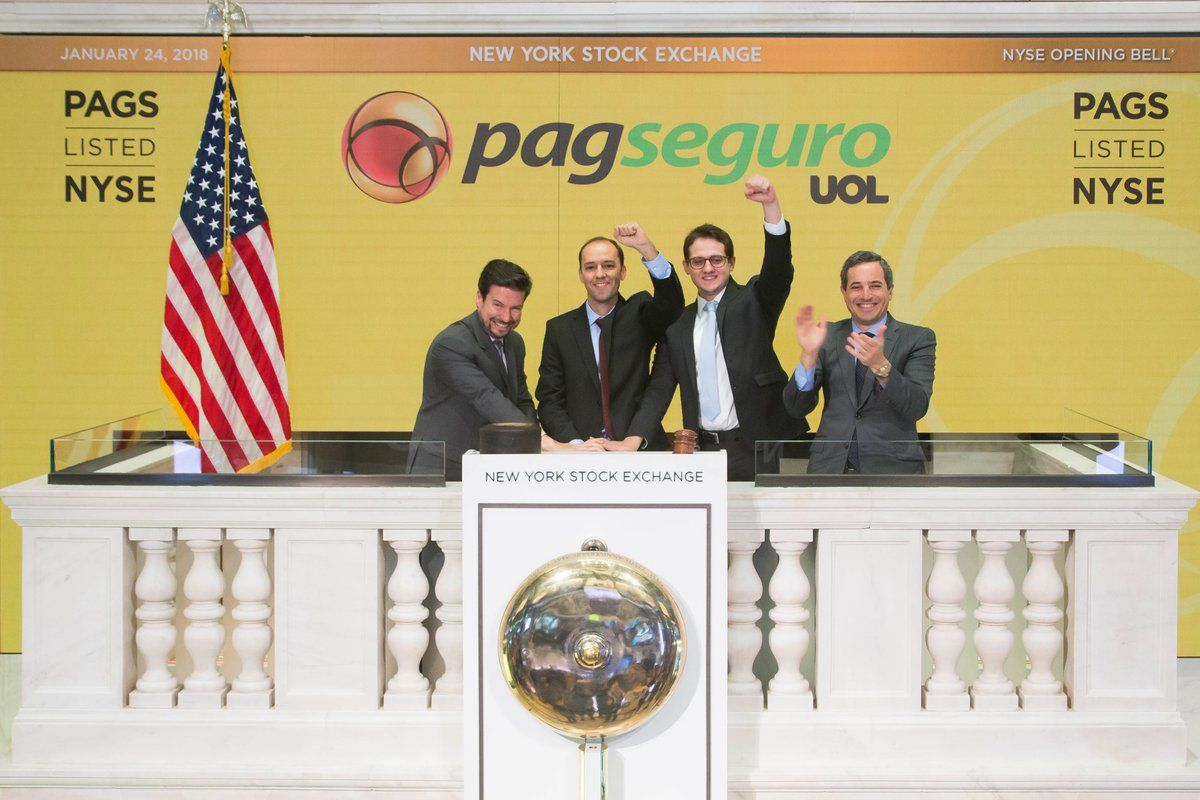 In The Biggest International Ipo Since Alibaba With Over 2 2b Raised We Are Proud To Welcome Pagseguro To The Nyse