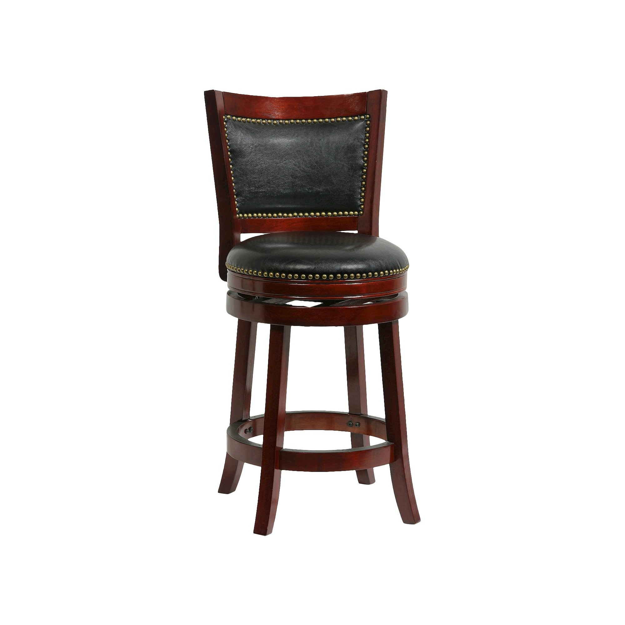 Admirable Boraam Bristol Swivel 24 Counter Stool Hardwood Cherry Bar Uwap Interior Chair Design Uwaporg