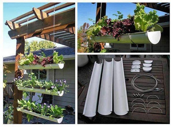 gutter-garden Dream Garden/Grounds Pinterest Jardines - como hacer una jardinera