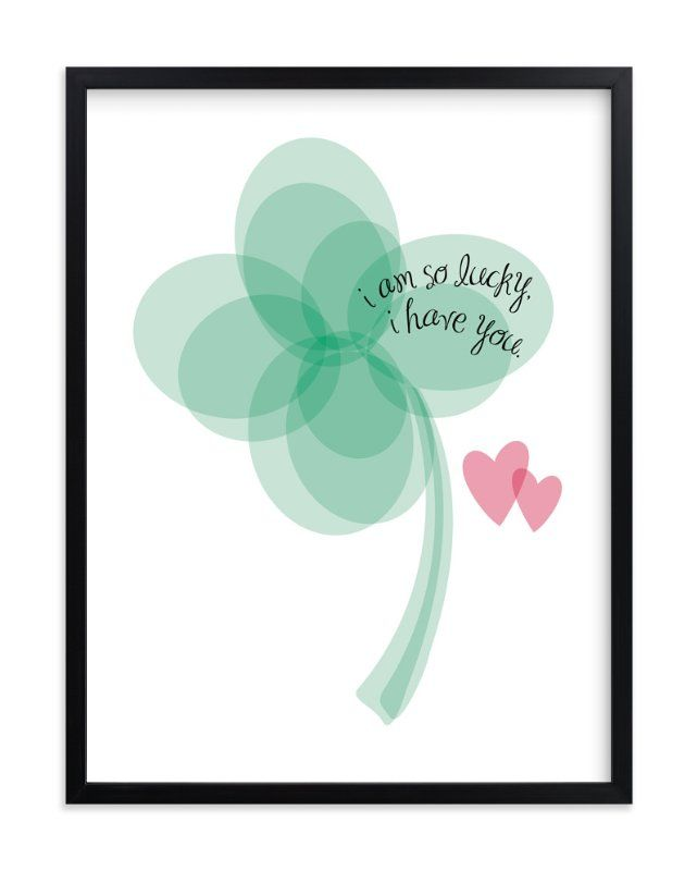 """""""Lucky Clover"""" - Art Print by Christy in beautiful frame options and a variety of sizes."""