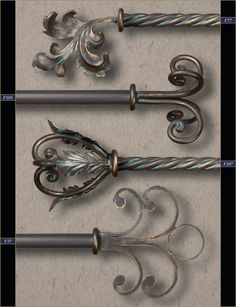 1 Wholesale Wrought Iron Curtain Rods Finials Gaby S Shoppe