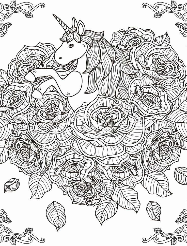 72 Elegant Photos Of Hard Coloring Pages | Unicorn ...
