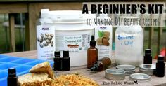 When you start making your own DIY beauty recipes, it can be hard to find all the supplies you need. Here's a beginner's kit for getting started in DIY!