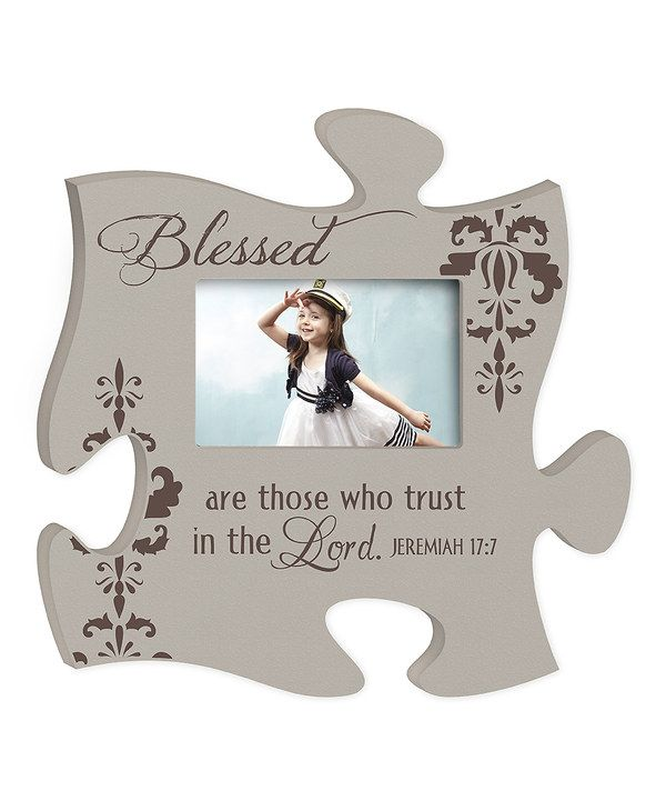 Look at this 'Blessed' Puzzle Piece Photo Frame on zulily