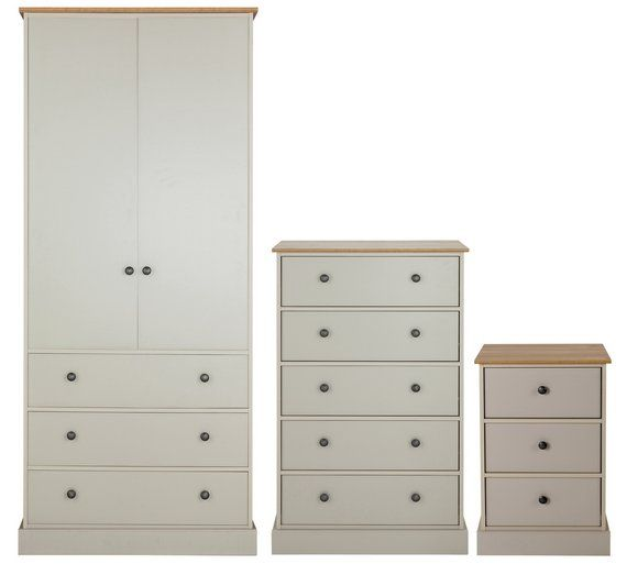Argos Bedroom Furniture Pleasing Buy Collection Kensington 3 Pc Package  Oak Effect & Soft Grey At Decorating Design