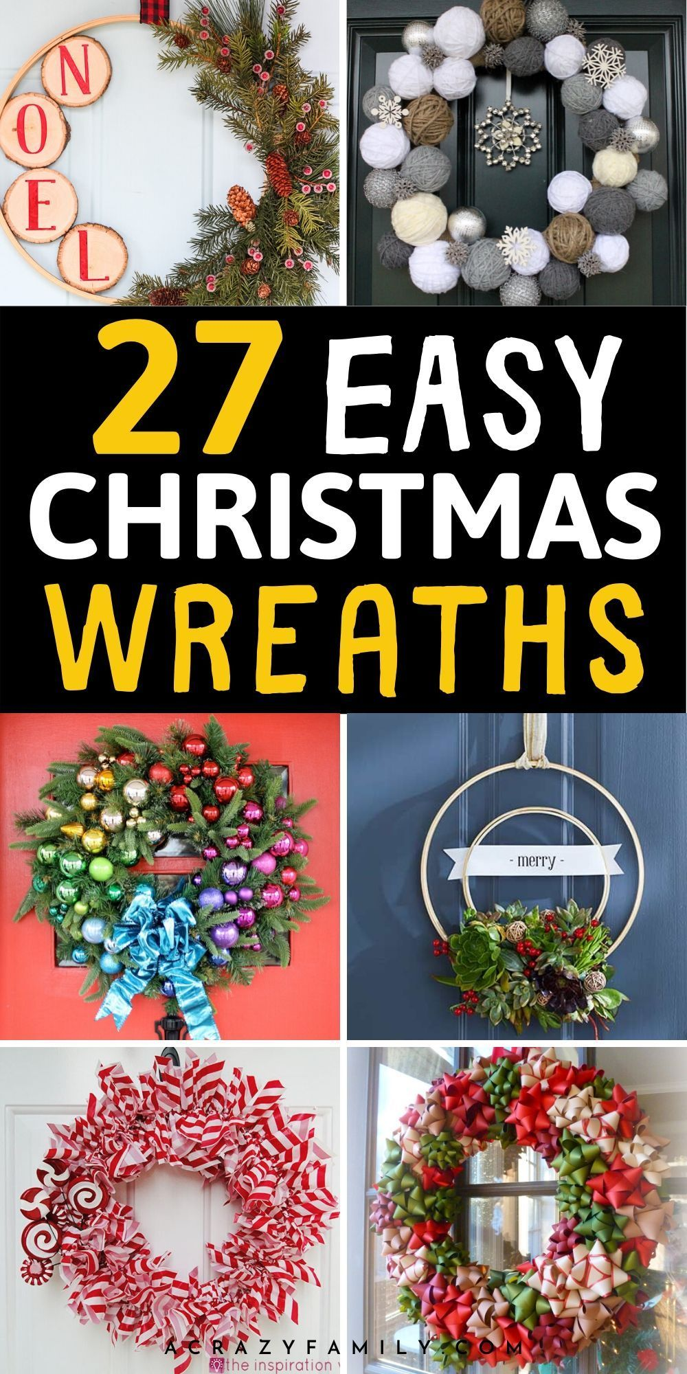 Photo of 30+ Super Easy Festive DIY Christmas Wreaths