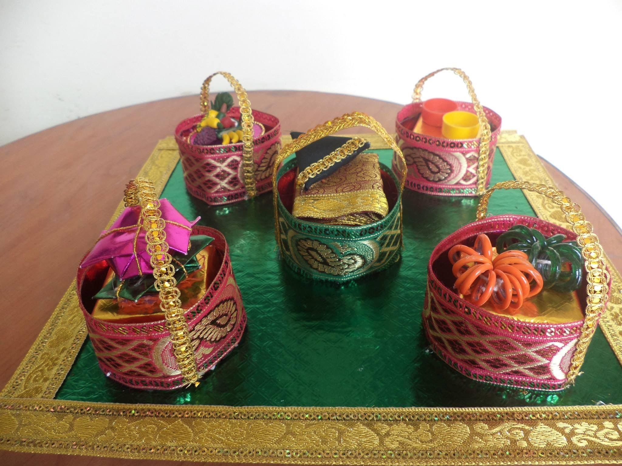 Pin by asha latha on bellam achu decor pinterest for Baby tray decoration