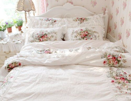 Fadfay Home Textile New 2014 European Vintage Floral Rose Bedding