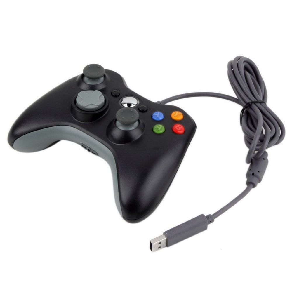 USB Wired Gamepad Controller For Microsoft Xbox 360 Slim ( 4 Colors ...