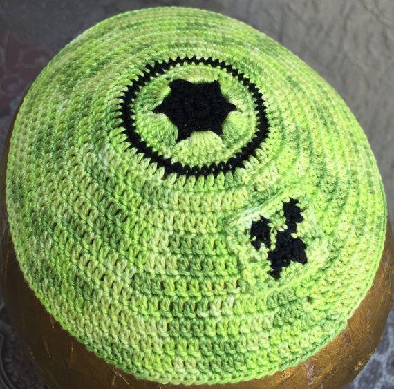 Minecraft kippah Jewish creeper yarmulke boy child green guy ...