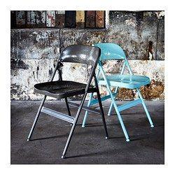 Elegant Turquoise Folding Chair