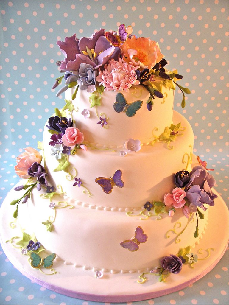 flowers butterflies cake cookie Decorating Cakes