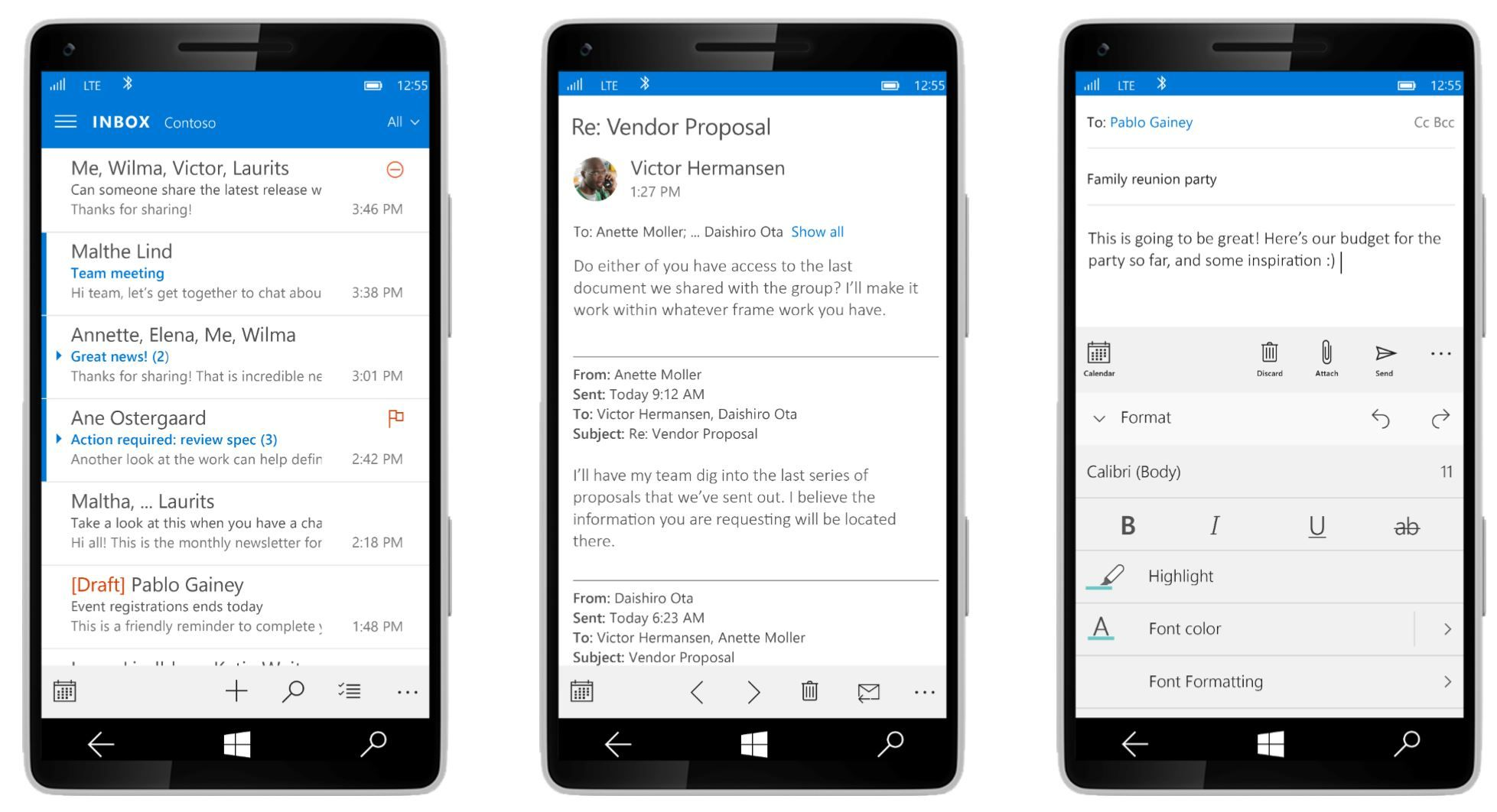 Outlook Mail and Calendar app gets Calendar Printing