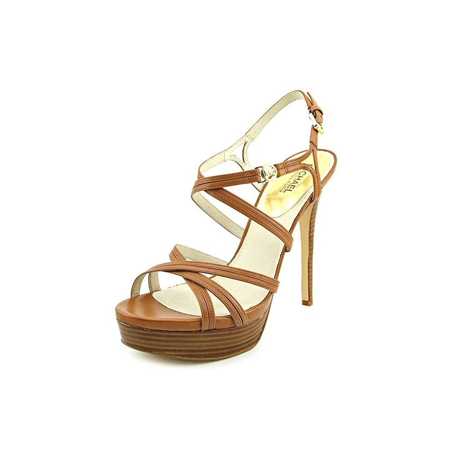 MICHAEL Michael Kors Women's Cicely Leather Platform Sandals *** Startling review available here  : Platform sandals