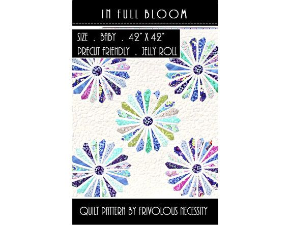 Cool Quilt Pattern PDF In Full Bloom Baby Dresden Flower Applique Jelly Roll Friendly Minimalist - Model Of bloom baby HD